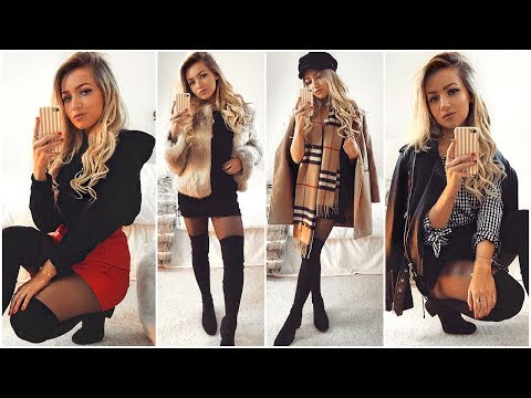2ec75ffcd5db2 WINTER OUTFITS WITH SKIRTS & DRESSES LOOKBOOK 2018 - YouTube