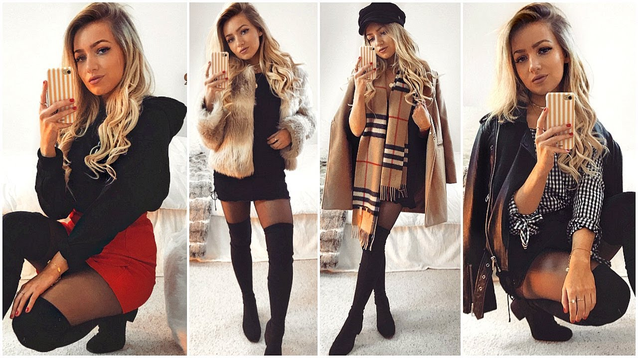 WINTER OUTFITS WITH SKIRTS & DRESSES LOOKBOOK 2018 1