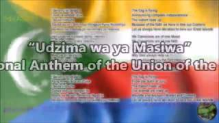 Comoros National Anthem with vocal and lyrics Comorian w/English Translation