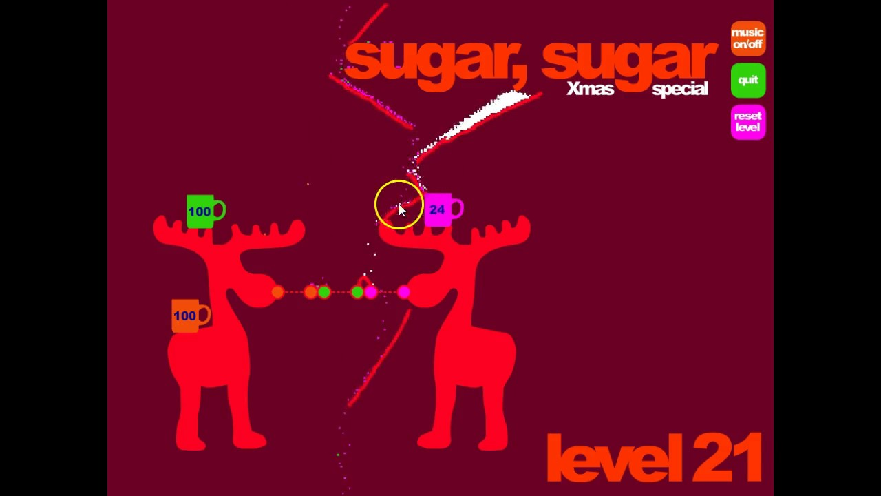 Sugar Sugar Christmas.Lets Play Flash Game Sugar Sugar Christmas Level 21