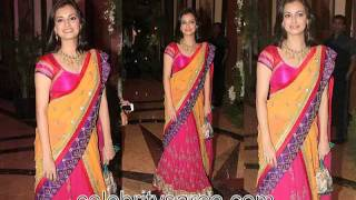 Celebrities Saris at Genelia and Ritesh Wedding Event