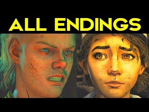 The Walking Dead Season 4 Episode 1 ALL ENDINGS (Bad Ending 1 + Good Ending 2) + SECRET ENDING