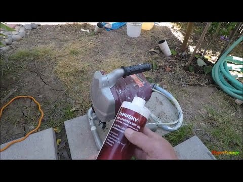 3/3: Cleaning the Harbor Freight paint sprayer system - Oiling the system before storage