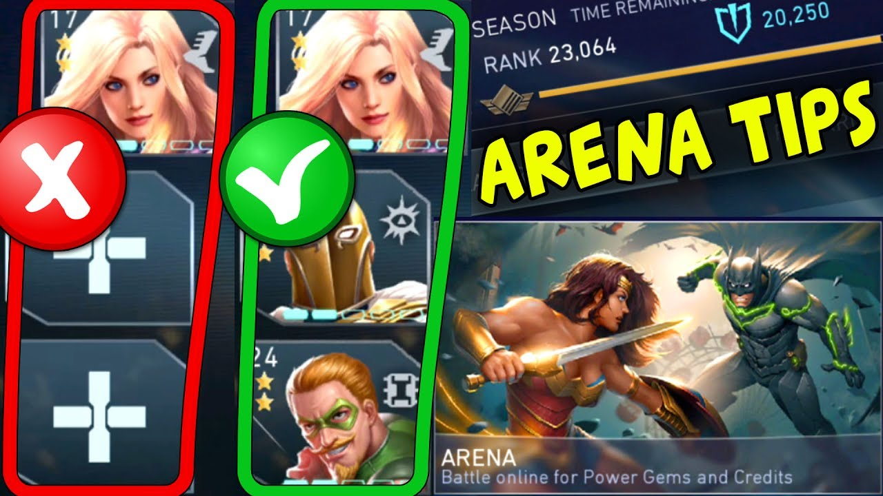 Injustice 2 Mobile  ARENA TIPS  How to Get More Arena Points and Place  Higher  WIN ARENA EVERY TIME!