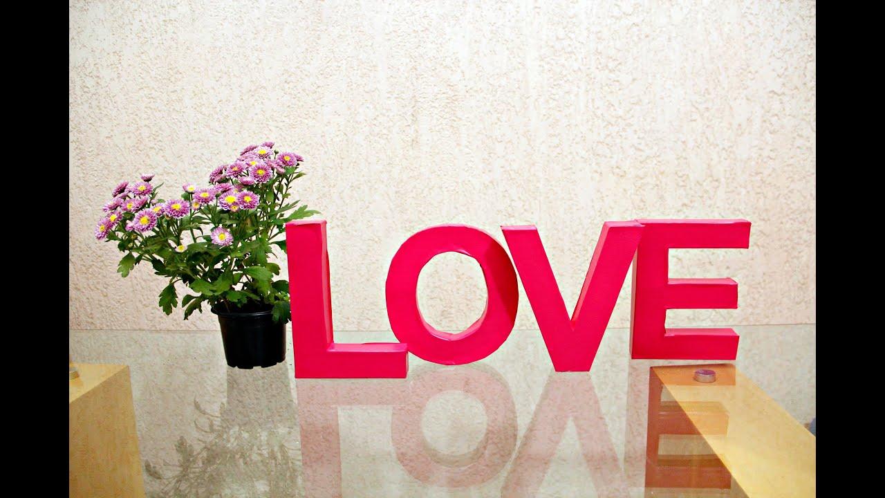 Diy letras 3d para decorar casa anivers rios ch s c for Decorar casa 3d online