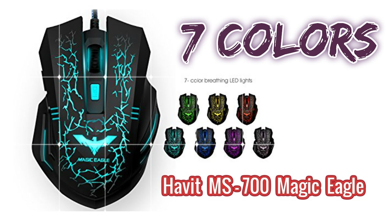 bc8dadc94f8 Havit MS-700 Magic Eagle Lightening Gaming Mouse (7 Colors) - YouTube