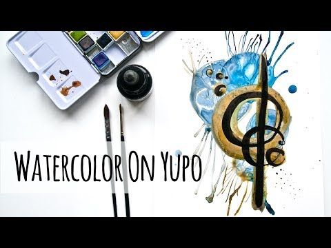 How to Use Watercolor paint and Indian Ink on Yupo