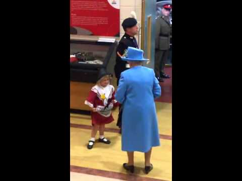 Little Girl Gets Smacked in Face After Meeting Queen Elizabeth in Cardiff, Wales (June 11, 2015)