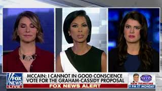 """""""Objective"""" Fox host obviously peeved that McCain won't support Graham-Cassidy bill"""
