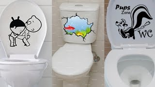 Funny Design Wall Stickers for Bathroom Decoration