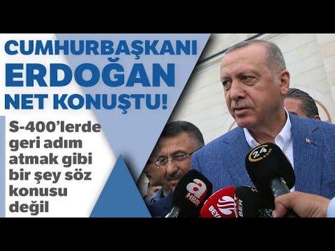 """Cumhurbaşkanı Erdoğan: """"S-400'lerde Geri Adım Atmak Gibi Bir Şey Söz Konusu Değil"""""""