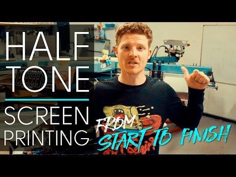 Half Tone Screen Printing on custom 👕 t shirts with butt registration