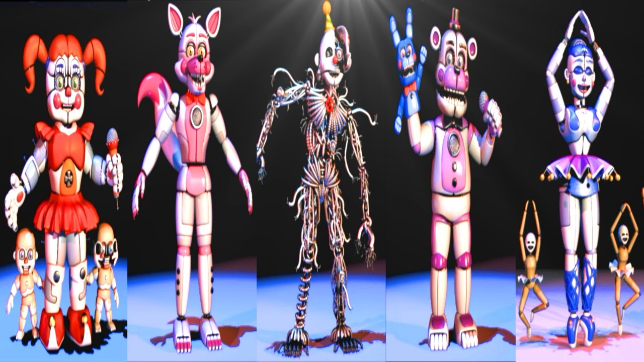 Withered Fixed Naf F Animatronics