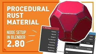 Procedural Rust Material in Blender   Tutorial