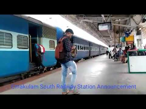 Ernakulam Junction Railway Station Announcement
