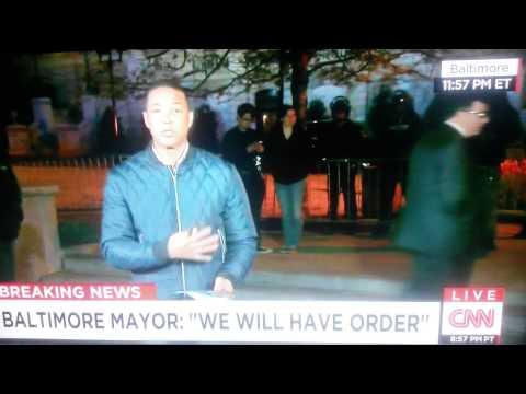 Baltimore riots 4/27/15 f*** governor you fin suck