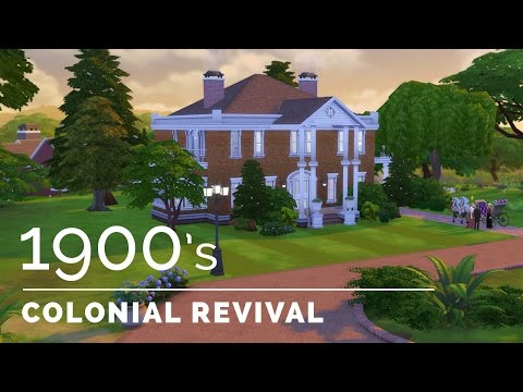 Sims 4  |  Decade Build Series  |  1900s Colonial Revival