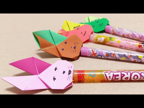 DIY Animals Color Pencils Topper - Easy DIY Paper Craft Idea - DIY School Supplies