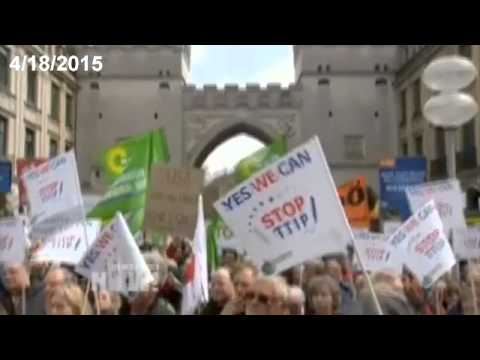 """04.18.2015 International Protests Against TPP / TTIP """"Free"""" Trade Deals"""