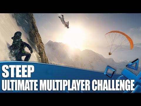 Steep Multiplayer Gameplay! Ski, snowboard, wingsuit and paraglider challenge