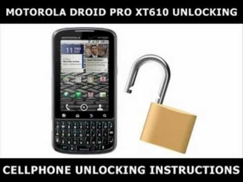 How to Unlock Any Motorola Droid Pro XT610 Using an Unlock Code