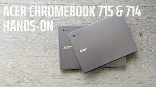 Hands-On With the New Acer Chromebook 714 & 715
