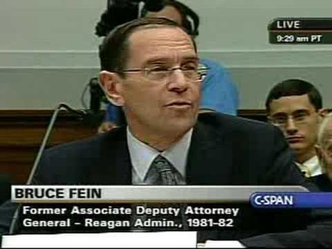 Bruce Fein-Hearing on Impeaching Bush - Part 8 - 7/25/08