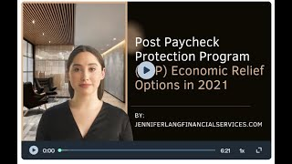 Small Business Owner Loans | Post Paycheck Protection Program PPP Economic Relief Options in 2021