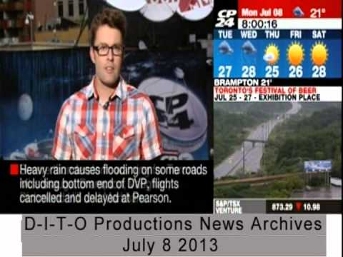 SEVERE FLOOD AND BLACKOUTS IN TORONTO: CP24 REPORT - YouTube