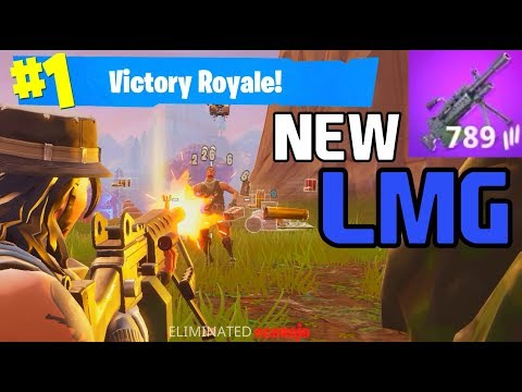 *NEW* LMG IS OP!!! - BEST GUN FOR CLOSE RANGE?? - Fortnite Battle Royale -