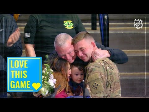 Army sergeant returns to surprise his wife at Avalanche game