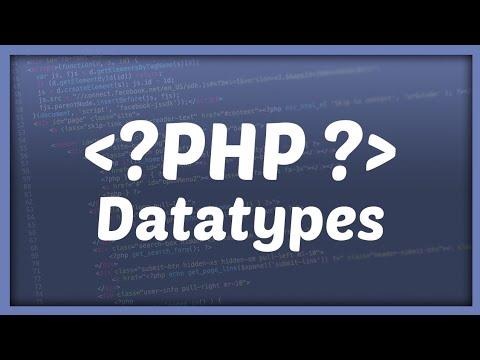 PHP DATATYPES || String, float, null en meer