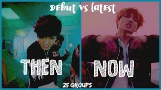 Debut Song Vs Latest Song   25 Boy Groups