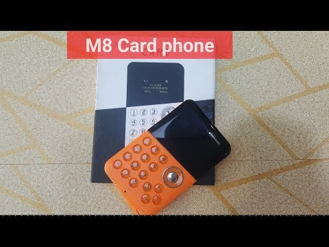 M8 card Phone | slim and smart phone