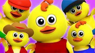 Пять Маленьких Цыплят | детские песни | детские стишки | Five Little Chicks Song | Farmees Russia