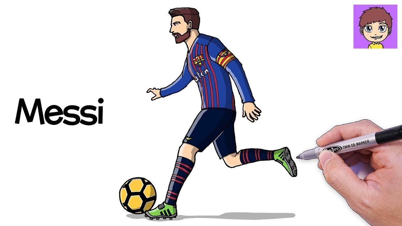 Como Dibujar A Messi Paso A Paso Dibujos Para Dibujar Dibujos Faciles Lionel Messi Youtube