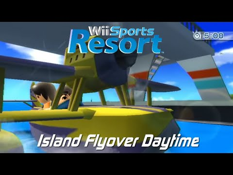 Wii Sports Resort – Air Sports Island Flyover: All 80 i Points + Miguel's Guide Plane