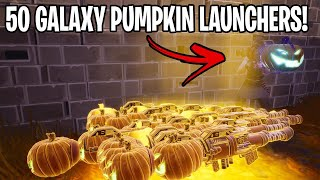 Scammer loses 50 NEW galaxy pumpkin launchers! (Scammer Get Scammed) Fortnite Save The World