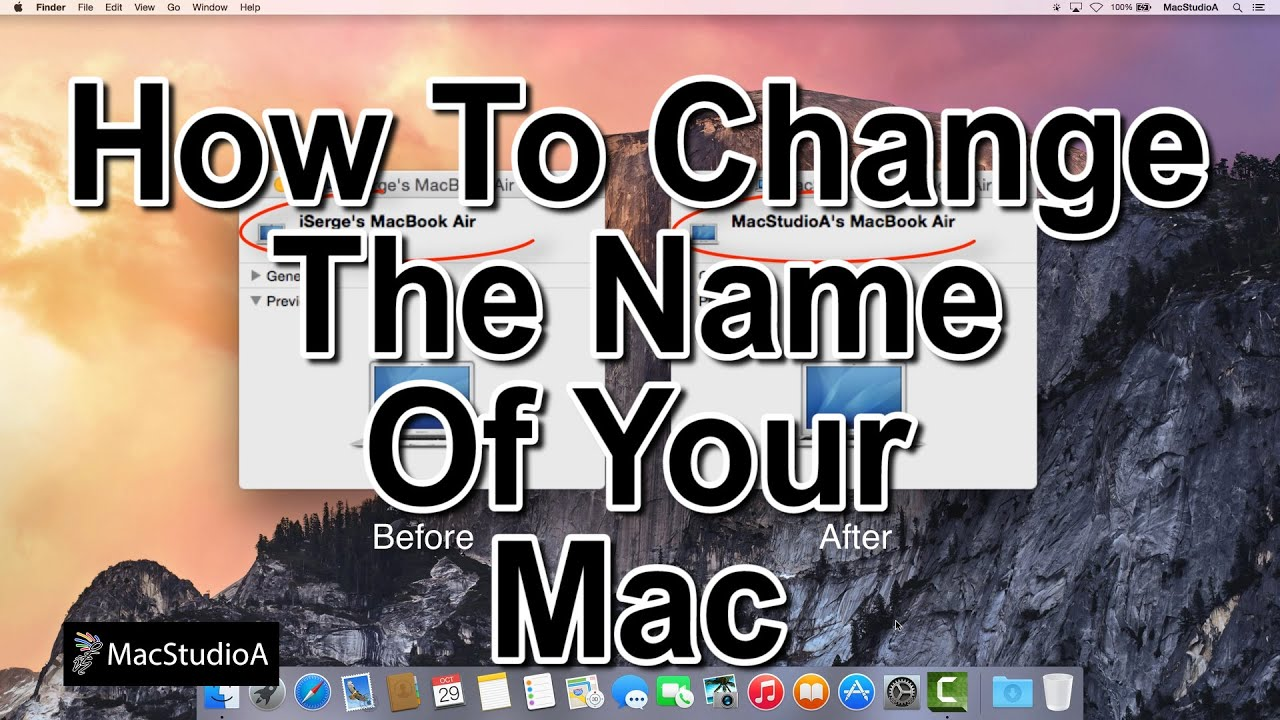 how do i change the name of my iphone how to change the name of your mac doovi 2114