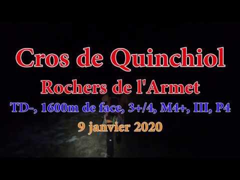 Une des plus grandes faces des alpes-Cros de Quinchiol TD- 1600m - Rochers de l'Armet, janvier 2020