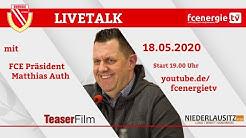 FC Energie Cottbus | Livetalk mit Präsident Matthias Auth