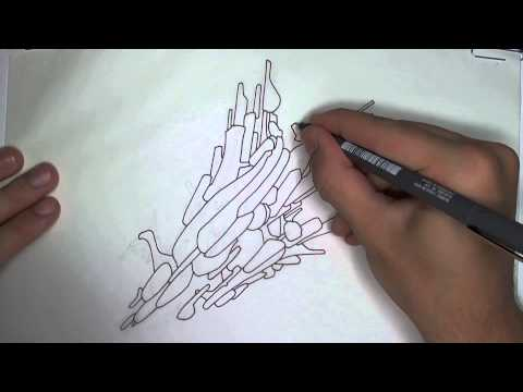 Drawing an Abstract Spaceship (Line Art)