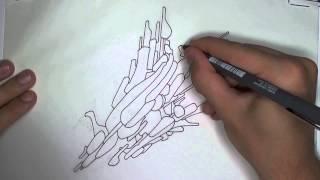 Video Drawing an Abstract Spaceship (Line Art) download MP3, 3GP, MP4, WEBM, AVI, FLV Juni 2018