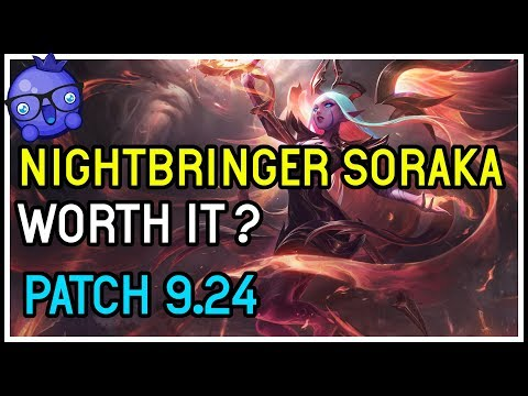 NEW Nightbringer Soraka Skin - Diamond Gameplay