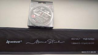 Мормышинг Mormo Stick 602 XUL T 1 80m 0 5 3 5 гр Nisus и Шнур Helios Extrasense X3 PE 0 09мм 92m