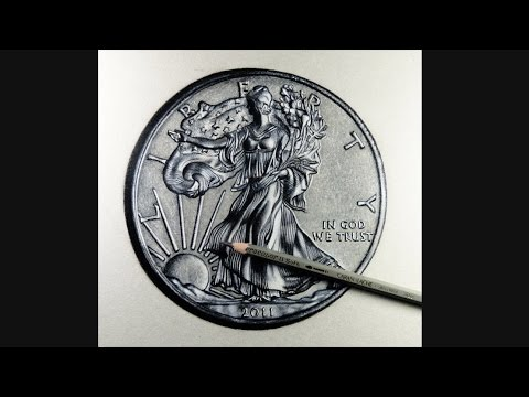 Silver Coin Drawing Hyperrealistic Art Youtube