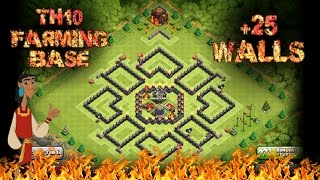 Clash of clans: TH10 NEW farming base +25 WALLS