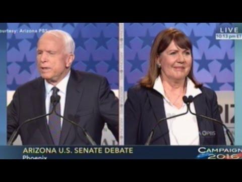 JOHN MCCAIN vs ANN KIRKPATRICK Arizona Senate Debate Becomes All About Trump & Hillary