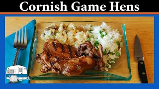 Cornish Game Hens With Cornbread Stuffing - White Trash Cooking