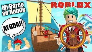 Mi Barco se Hunde en Roblox | Survival Roblox Boat Obby | Juegos Karim Juega